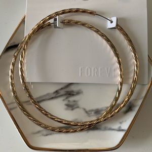 Forever 21 over sized hoops